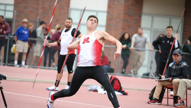 Chris Mirabelli of Rutgers track and field won the Big Ten title in the javelin with a throw of 240 feet, 3 inches.