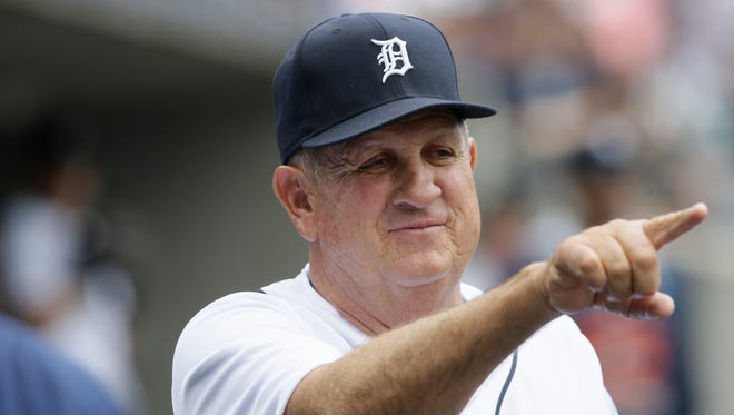 Detroit Tigers bench coach Gene Lamont plays against the Kansas City Royals on May 9, 2015, in Detroit.