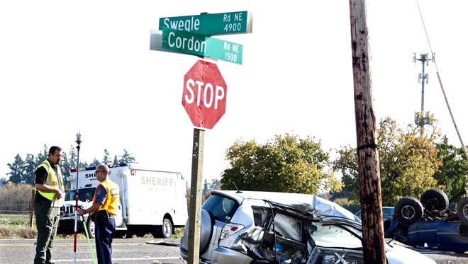 A car collision on Cordon Rd NE and Swegle Rd NE involving a 4-year old child is being investigated by Marion County Sheriff's Office CRASH Team on Saturday, Oct. 22 at 2:30 p.m.