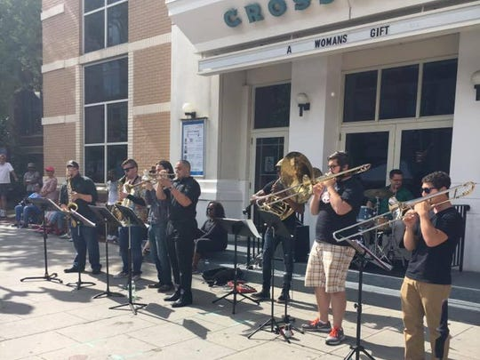 "New Brunswick Brass Band will get funky New Orleans-style at the MyCentralJersey.com-sponsored ""New Jazz Directions"" on Sept. 2 in The Yard @ College Ave in New Brunswick with fellow jazz-groove acts Danielle Illario Band and johnnycola."