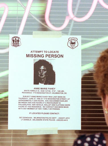 Search for Anne Marie Fahey July 3, 1996.