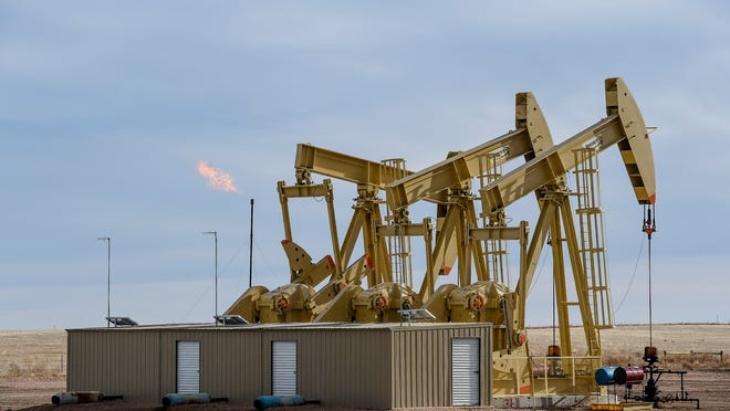 An oil operation in Colorado is pictured.