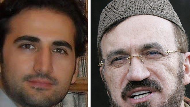 Amir Hekmati, left, of Flint is a prisoner in Iran, accused of being a spy. Iran native Imam Mohammad Ali Elahi visited him in Tehran.