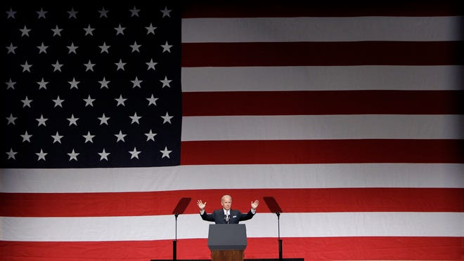 In this Oct. 28, 2011, file photo, Vice President Joe Biden speaks at the Florida Democratic Party State Convention, in Lake Buena Vista, Fla.