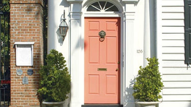 Benjamin Moore's exterior paint and a selection of warm and fresh corals will brighten your entranceway and welcome you home.
