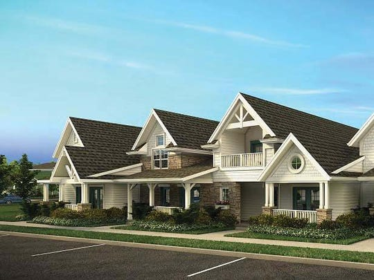 Planned townhomes for Willoughby Estates, Delhi Township.