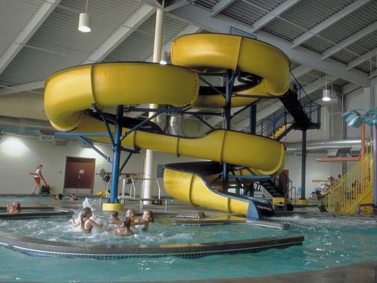 The Indy Island Aquatic Center indoor water park features