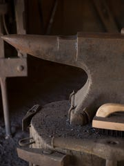 The anvil in the blacksmith's shop at Vermilionvile March  2, 2016.