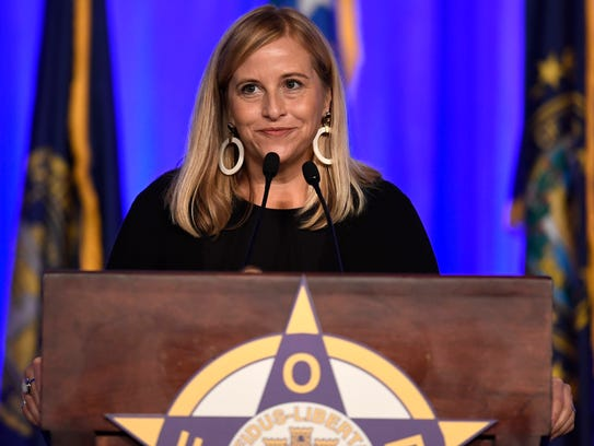 Nashville Mayor Megan Barry addresses the Fraternal