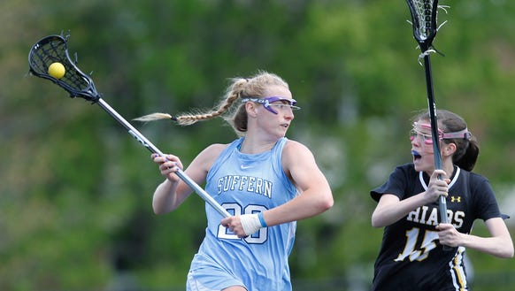 Suffern girls lacrosse defeats St. Anthony 8-7 at Suffern
