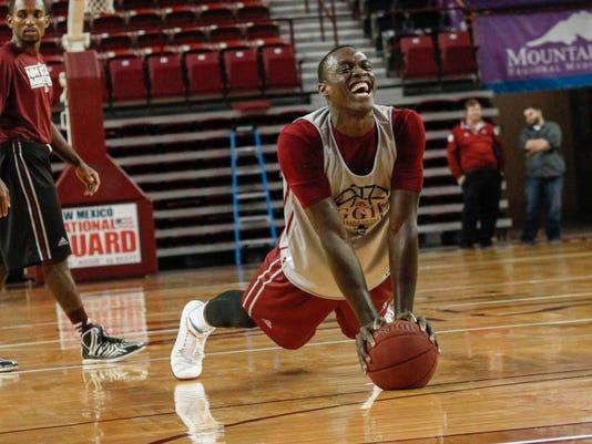NMSU Basketball Team Practices