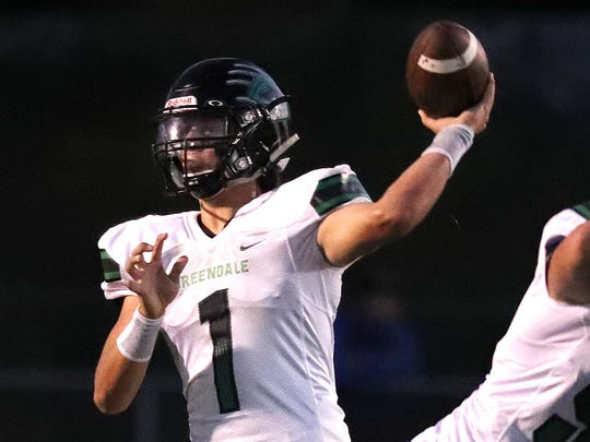 Greendale quarterback Mitchell Gnadt looks for an open