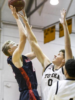 Manhattan's Owen Braxmeyer led the Indians in scoring and rebounding last season, but is the lone returning starter after graduation claimed eight seniors off last year's state tournament team.