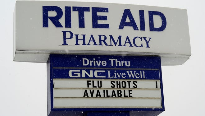 Many area pharmacies are still offering flu shots, including Rite Aid on E. Market St. in Springettsbury Township, Monday Feb. 16, 2016. John A. Pavoncello photo
