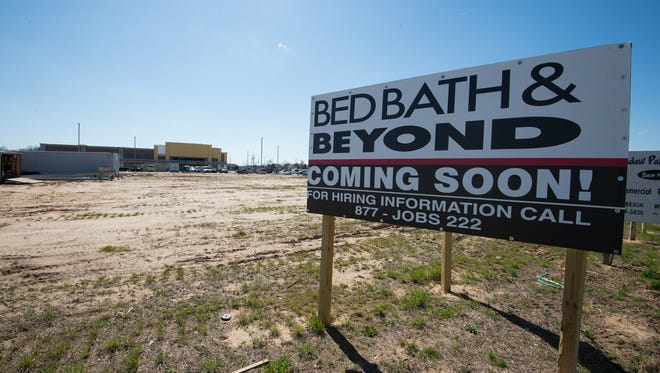 View of the sign along Route 1 for the new Bed Bath & Beyond coming to the Rehoboth Gateway shopping center in Rehoboth. The store is now open.