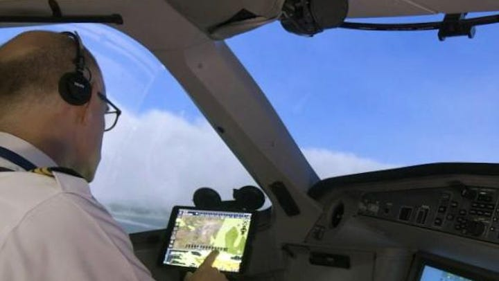 A Delta pilot uses Flight Weather Viewer turbulence