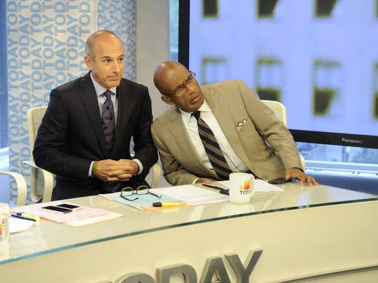 """Matt Lauer, left, and Al Roker on the set of NBC's """"Today"""" show."""