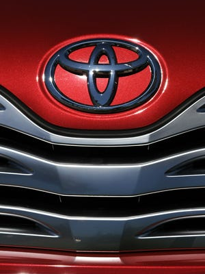 A Toyota SUV is on display at a Toyota dealership in Torrance, Calif.