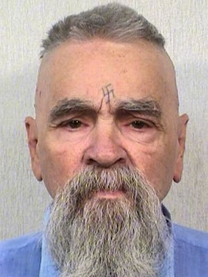 "This Oct. 8, 2014 photo provided by the California Department of Corrections shows 80-year-old serial killer Charles Manson. A marriage license has been issued for Manson to wed 26-year-old Afton Elaine Burton, who left her Midwestern home nine years ago and moved to Corcoran, California to be near him. Burton, who goes by the name ""Star,"" told the AP that she and Manson will be married next month."
