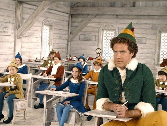 "Will Ferrell, right, stars in the holiday film ""Elf."""