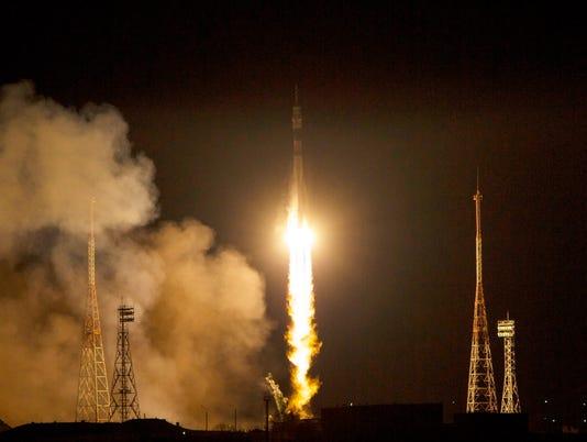 EPA KAZAKHSTAN SPACE PROGRAMMES SOYUZ LAUNCH SCI SPACE PROGRAMMES KAZ DC