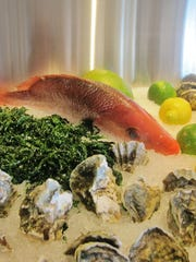 Fresh seafood is on display at  Olòn in Atlantic City,