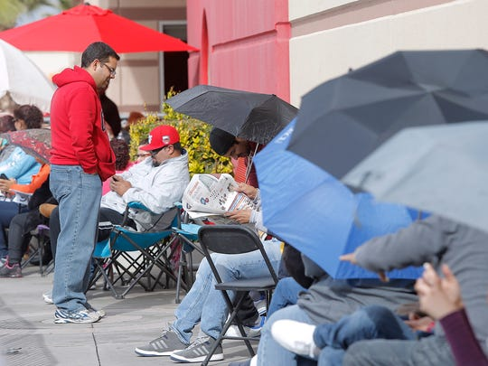 Black Friday shoppers line up outside Target in East El Paso on Thursday looking for Christmas deals.