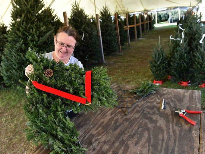 Helen Golden, of Creston Farms Christmas tree sales,