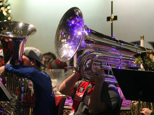 At the second annual Tuba Christmas Saturday, Dec.