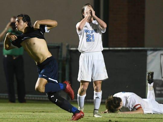 Maclay players react as Alberto Franceschi celebrates