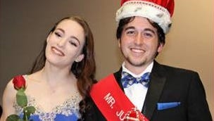 Billy Conners, the newly crowned Mr. Delsea, enjoys a moment with his escort CeCe Gerstenbacher.