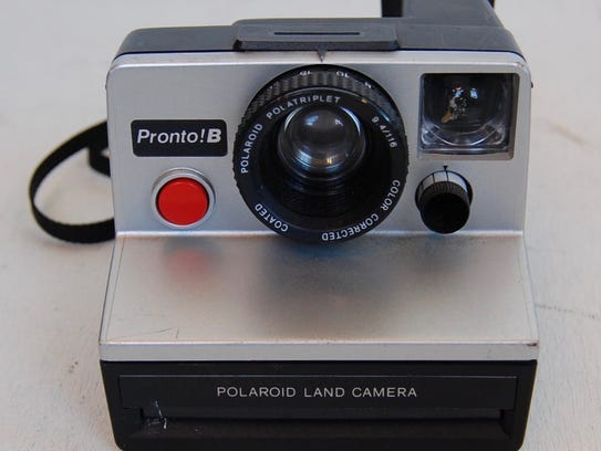 A vintage Polaroid Pronto! B camera.