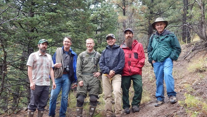 Members of were in the area recently conducting a survey to determine how several abandoned mines on the Lincoln National Forest should be treated.