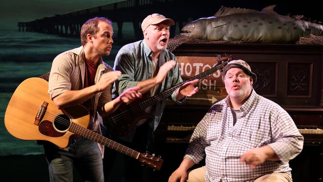 "The cast of ""King Mackerel and the Blues Are Running"" at NC Stage Co. includes, from left, Ben Mackel, Charlie Flynn- McIver and Joel P. Rogers."