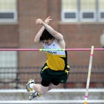 CMR's Knox Semenza clears 12 feet, 6 inches during the crosstown track meet back in 2014. He is among the top contenders in the event when the State AA/C Meet commences Thursday at 4 in the afternoon.