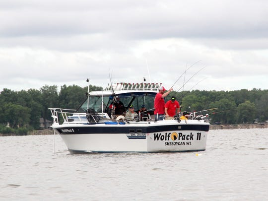 Wolf Pack Adventures runs several boats for fishing trips on Green Bay and Lake Michigan, including 28-foot Wolf Pack II.