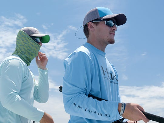 Weston and Perry Bedell wait for the fish to bite. Capt. Wes Bedell of On a Mission Fishing Charters is filming a show on Southwest Florida angling that will air on the Discovery Channel. Submitted photo.