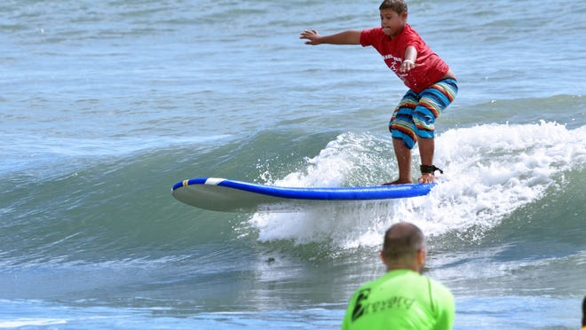 More than 100 competitors from 30 counties converged on Cocoa Beach for the Special Olympics State Surfing event.
