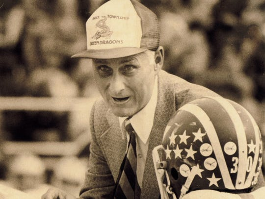 Coach Warren Wolf, shown in a 1981 photo, coached the