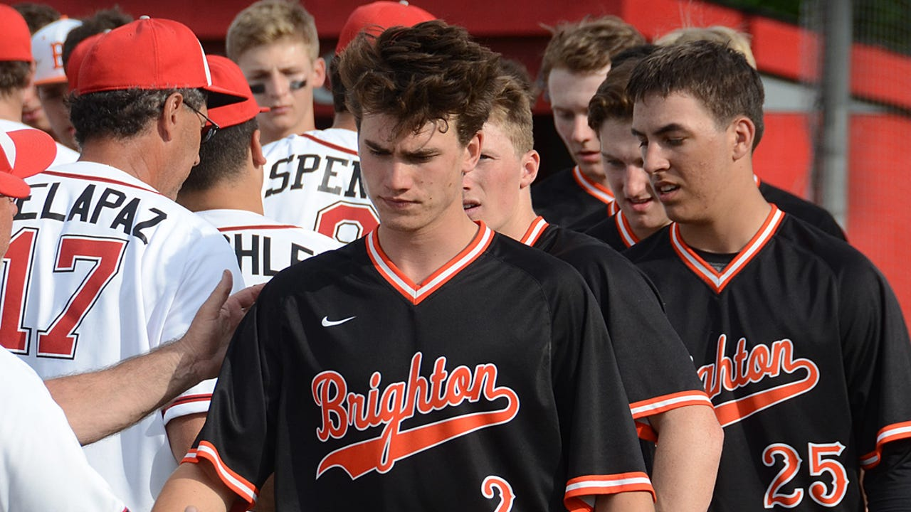 Highlights and interviews following Brighton's 7-5 loss to Canton in the KLAA Association baseball championship game on May 17, 2017.