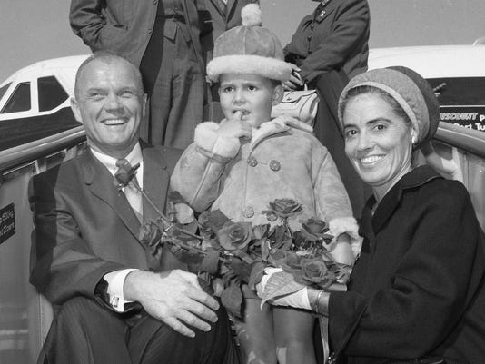 John, David and Annie Glenn 1965