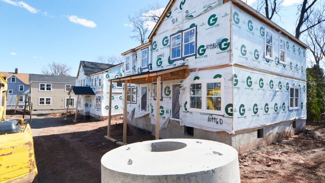 Construction nears completion on March 21, 2016 for HOMECorp's Talbot Village, one- and two-bedroom affordable housing units in Montclair.