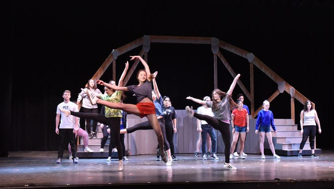 Students bring life in musical Footloose at Norton Valley Regional High School in Demarest, New Jersey