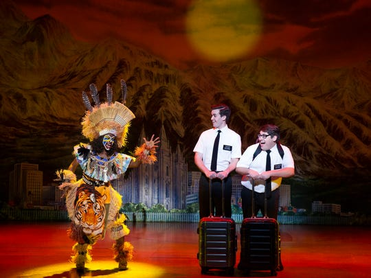 """In """"The Book of Mormon"""" two young Mormon missionaries arrive in a remote Ugandan village and discover that they are not remotely prepared to deal with the issues that face the people there – or their lack of interest in their message."""