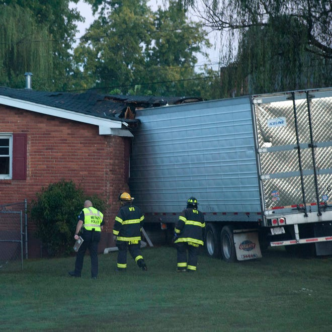 A semi truck crashed into a house in the 2800 block of McGavock. One person was killed in the accident on Wednesday Oct. 8, 2014, in Nashville.
