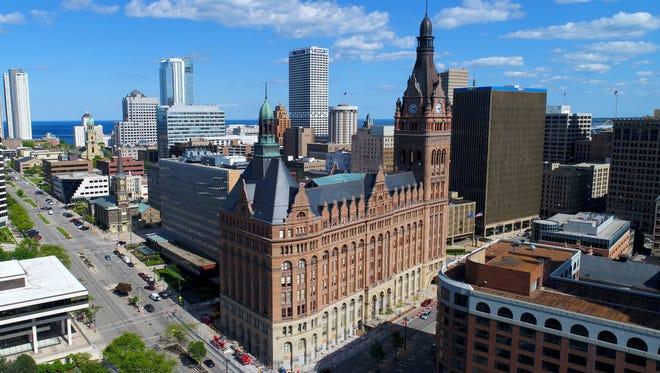 The Milwaukee City Hall on N. Water St. in Milwaukee.