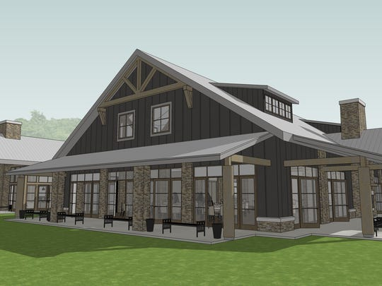 Renderings of new The Sycamore at Mallow Run, an event venue opening at the Bargersville winery.