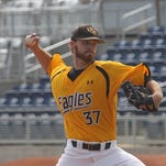 Southern Miss pitcher Cody Carroll delivers to the plate against Saint Louis Saturday.