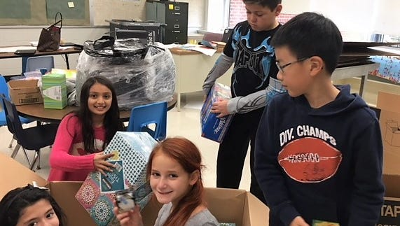 Fourth graders at Angelo L. Tomaso School (ALT) recently spearheaded a schoolwide project to provide much needed supplies to a Texas elementary school that sustained serious water damage in the wake of Hurricane Harvey.