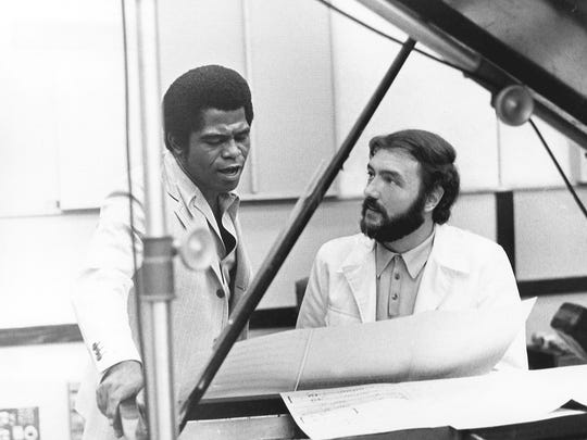 James Brown and Frank Vincent work on a tune at King